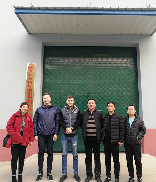 Russian customer Andrey visited our factory