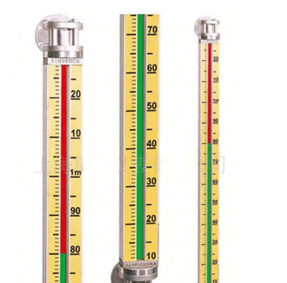 The principle structure and characteristics of the magnetic flap level gauge