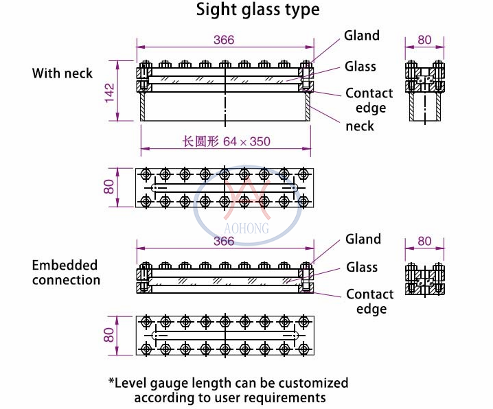 Level Gauge Sight Glass Type